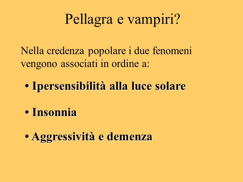 Pellagra e vampiri.