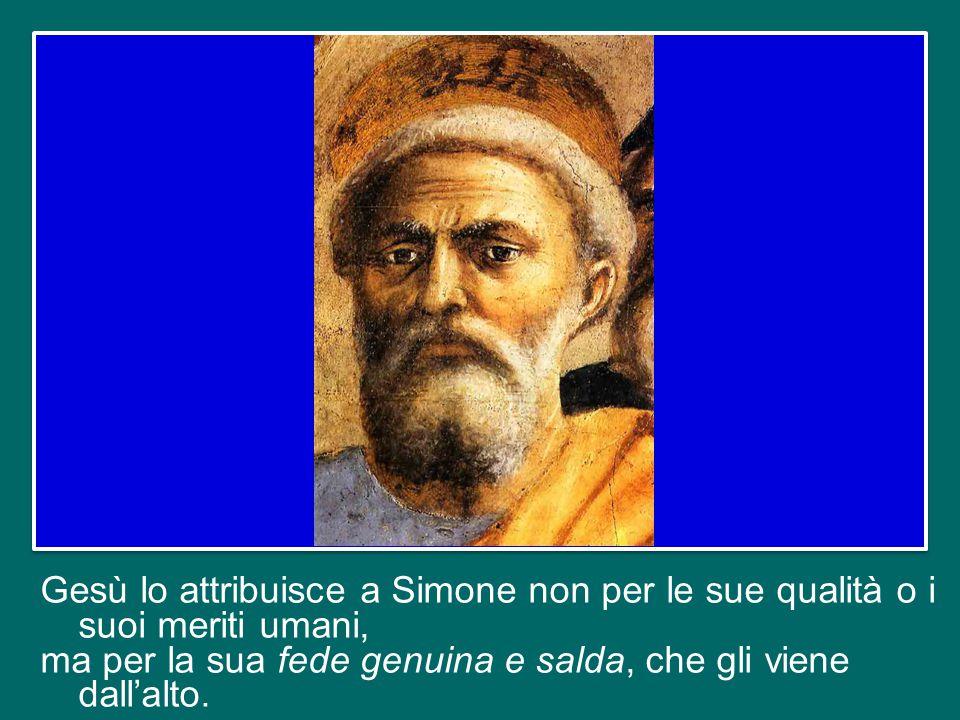 """Fermiamoci un momento proprio su questo punto, sul fatto che Gesù attribuisce a Simone questo nuovo nome: """"Pietro"""", che nella lingua di Gesù suona """"Ke"""