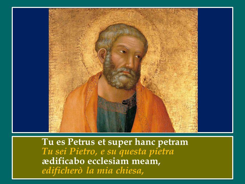 Tu es Petrus et super hanc petram Tu sei Pietro, e su questa pietra ædificabo ecclesiam meam, edificherò la mia chiesa, Tu es Petrus et super hanc petram Tu sei Pietro, e su questa pietra ædificabo ecclesiam meam, edificherò la mia chiesa,