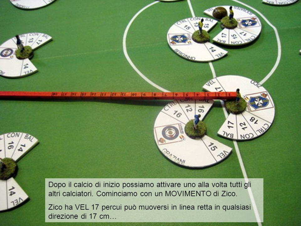 Ecco Zico che scatta sulla trequarti italiana.
