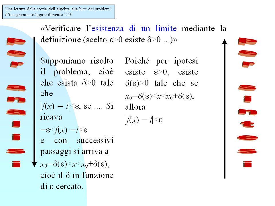 Una lettura della storia dell'algebra alla luce dei problemi d'insegnamento/apprendimento 2.10