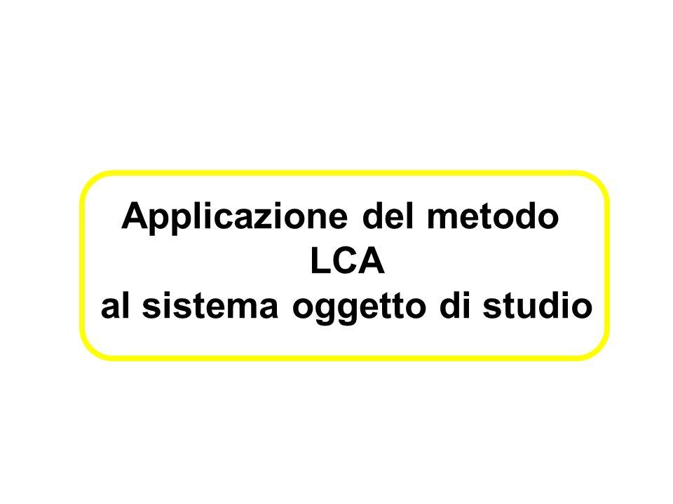 Applicazione del metodo LCA al sistema oggetto di studio
