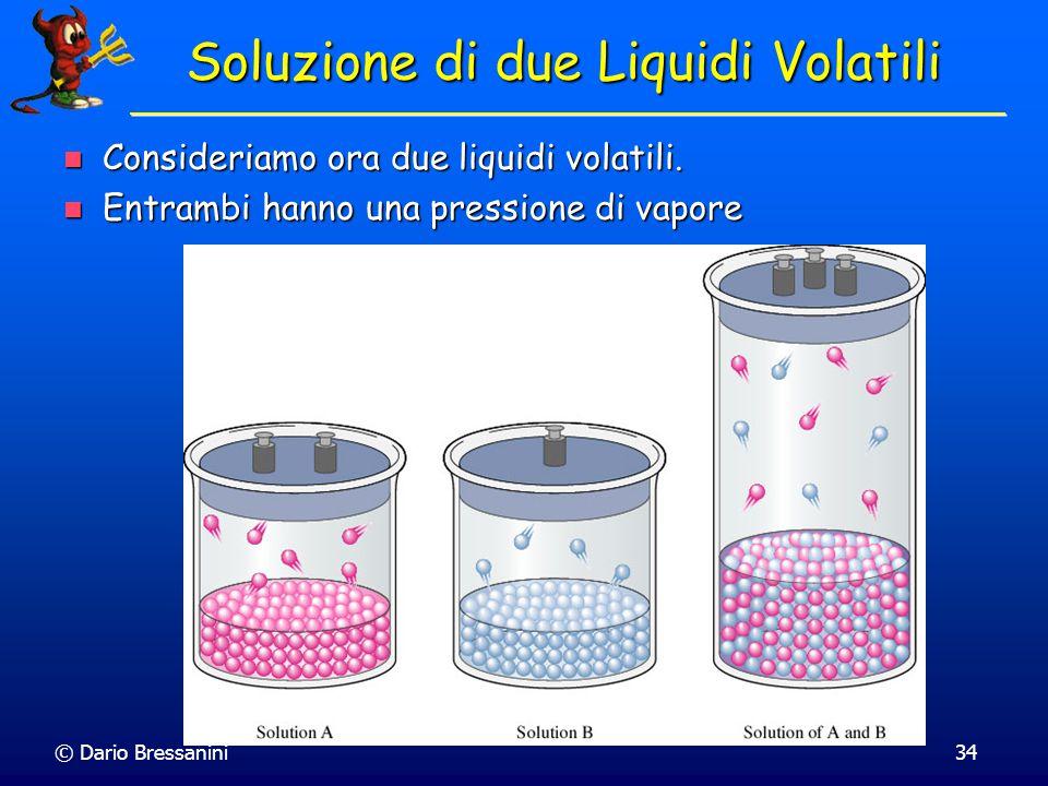 © Dario Bressanini33 Soluzioni Ideali Le soluzioni che seguono la legge di Raoult di chiamano Soluzioni Ideali Le soluzioni che seguono la legge di Ra