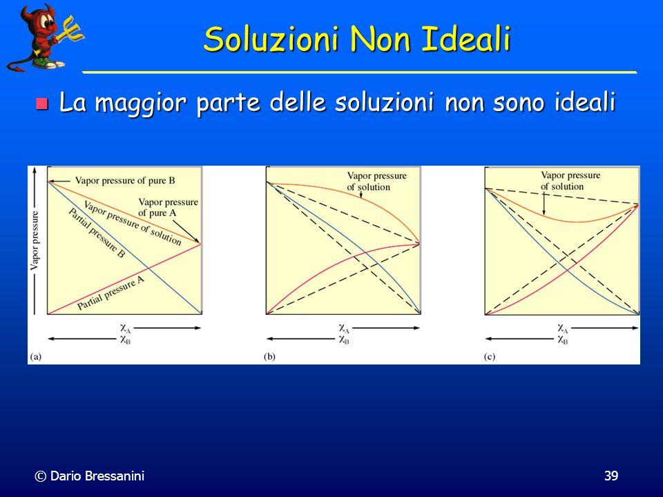 © Dario Bressanini38 Soluzioni Non Ideali La maggior parte delle soluzioni non sono ideali La maggior parte delle soluzioni non sono ideali Le interaz
