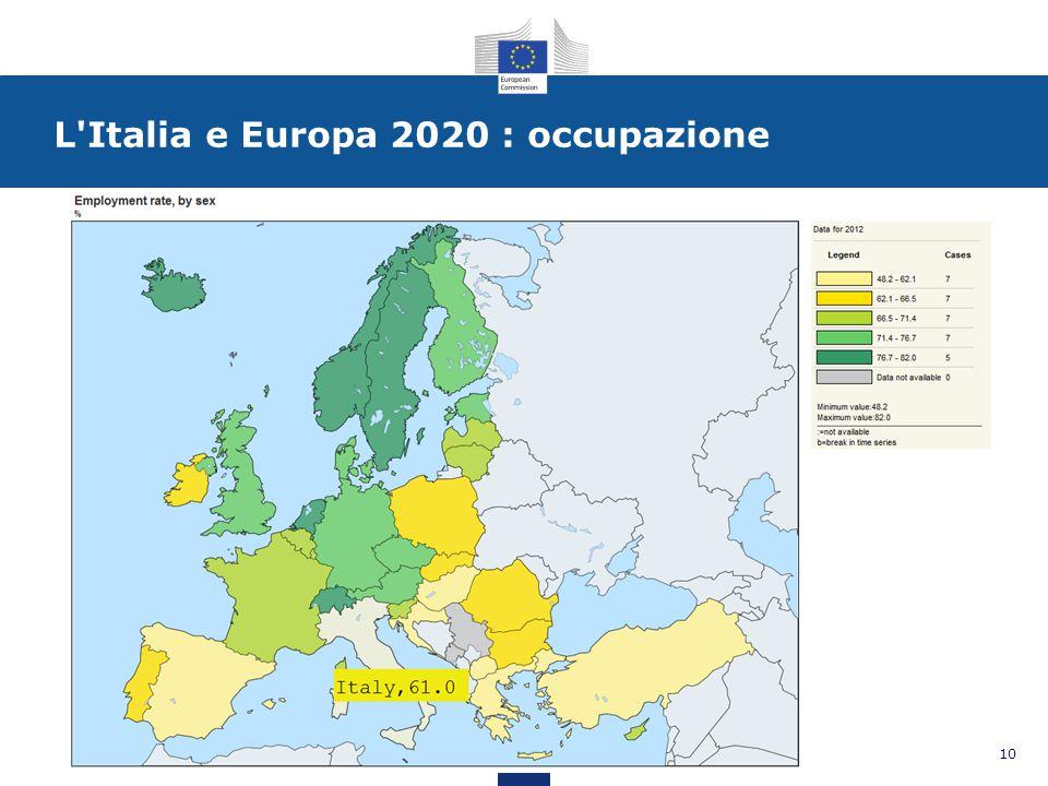 L Italia e Europa 2020 : occupazione 10