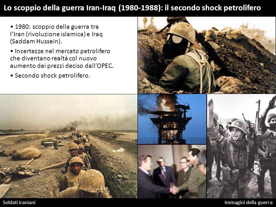 Soldati iraniani Immagini della guerra Lo scoppio della guerra Iran-Iraq (1980-1988): il secondo shock petrolifero 1980: scoppio della guerra tra l'Ir
