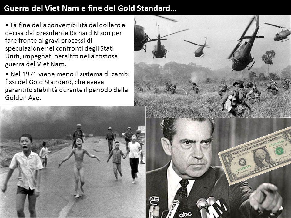 La fine della convertibilità del dollaro è decisa dal presidente Richard Nixon per fare fronte ai gravi processi di speculazione nei confronti degli S