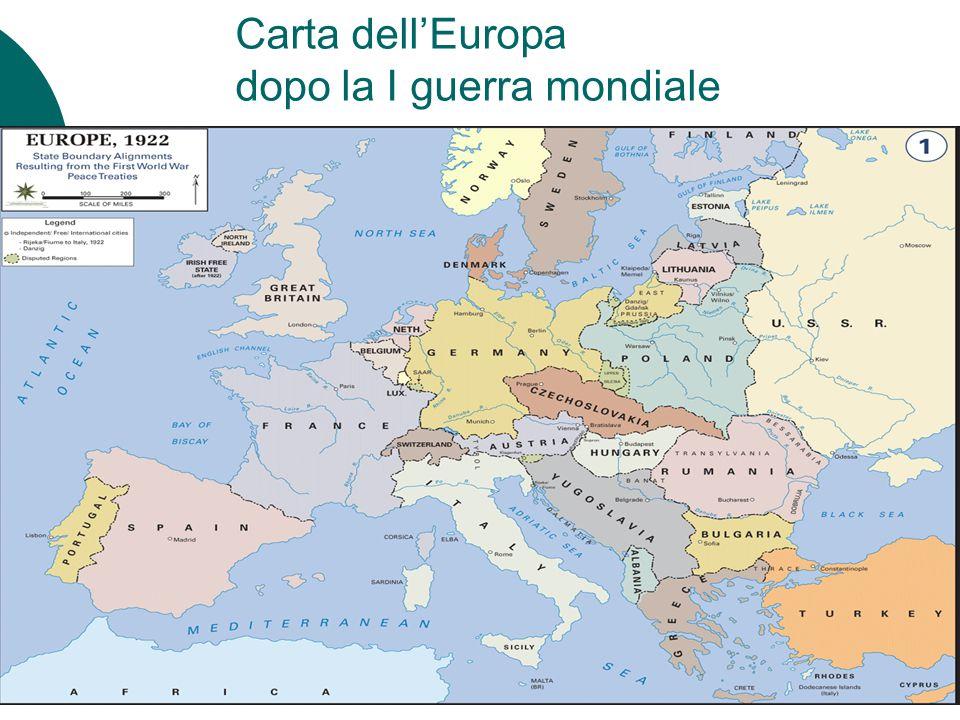 Carta dell'Europa dopo la I guerra mondiale