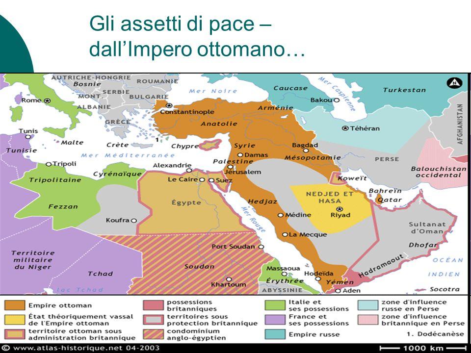 Gli assetti di pace – dall'Impero ottomano…