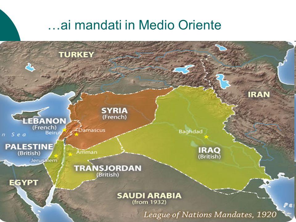 …ai mandati in Medio Oriente