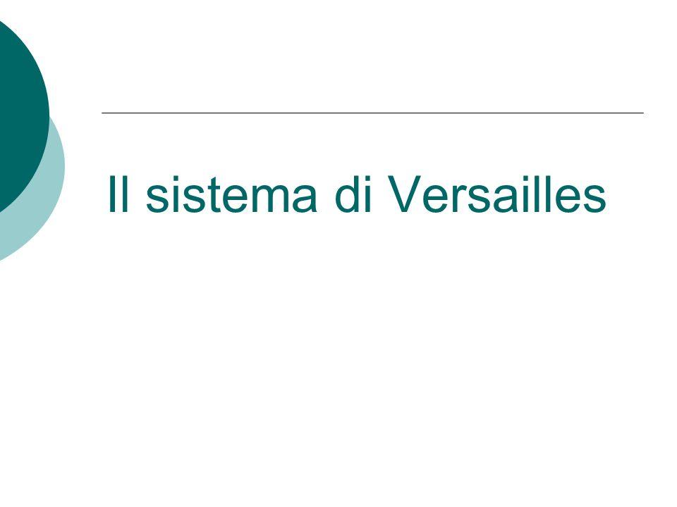 Il sistema di Versailles
