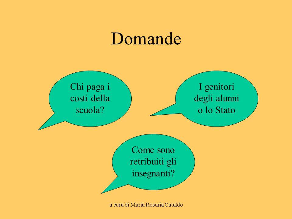 a cura di Maria Rosaria Cataldo Domande Chi paga i costi della scuola.