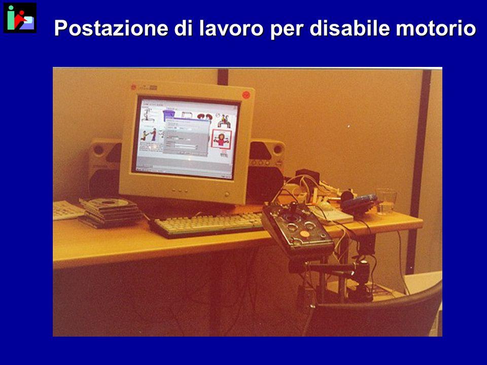 Postazione di lavoro per disabile motorio