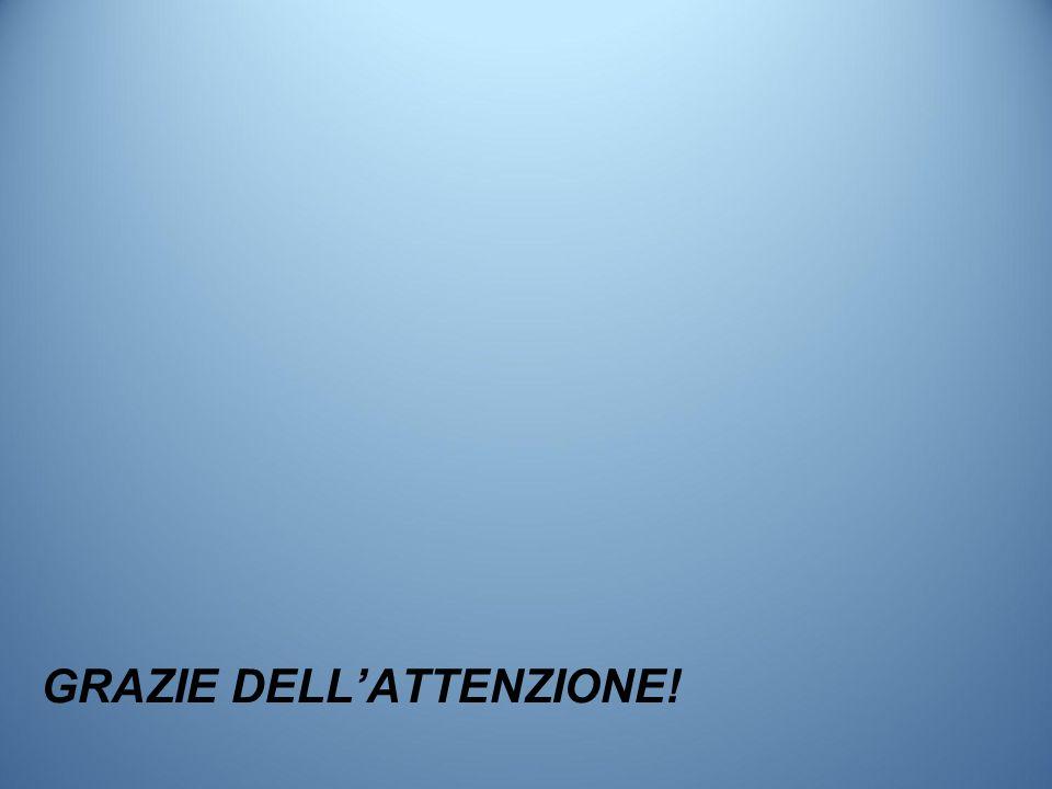 GRAZIE DELL'ATTENZIONE!