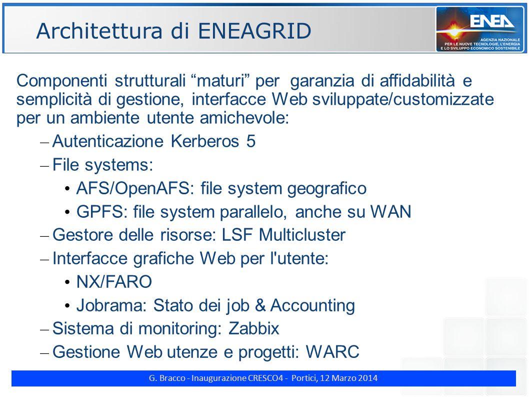 "G. Bracco - Inaugurazione CRESCO4 - Portici, 12 Marzo 2014 ENE Componenti strutturali ""maturi"" per garanzia di affidabilità e semplicità di gestione,"
