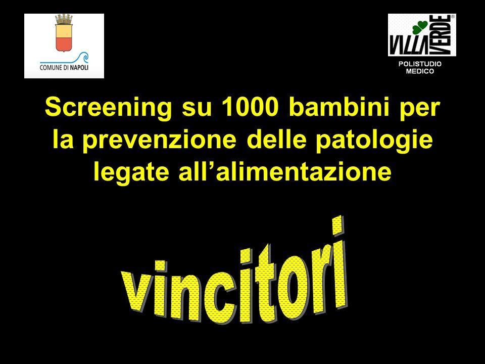 Screening su 1000 bambini per la prevenzione delle patologie legate all'alimentazione