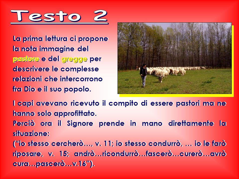 pastoregregge La prima lettura ci propone la nota immagine del pastore e del gregge per descrivere le complesse relazioni che intercorrono fra Dio e il suo popolo.