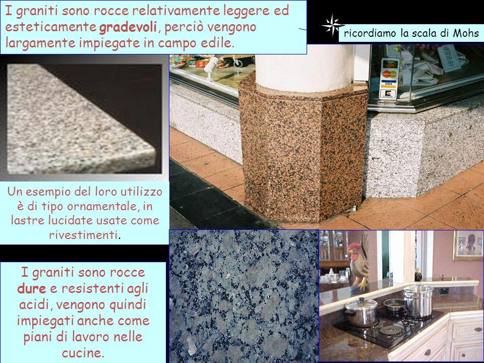 I graniti sono rocce relativamente leggere ed esteticamente gradevoli, perciò vengono largamente impiegate in campo edile. Un esempio del loro utilizz