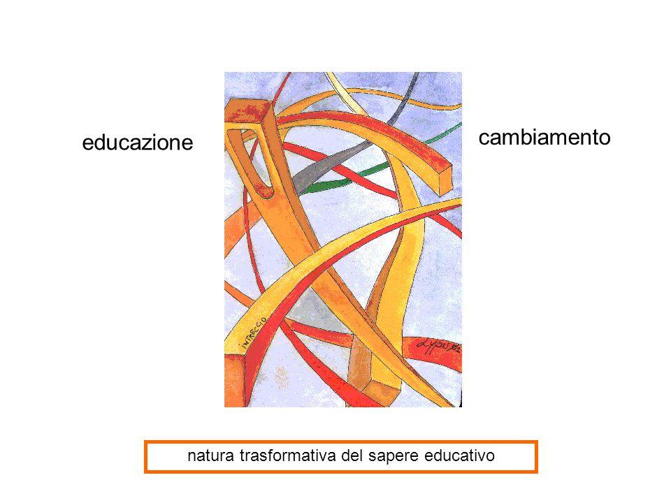 educazione cambiamento natura trasformativa del sapere educativo