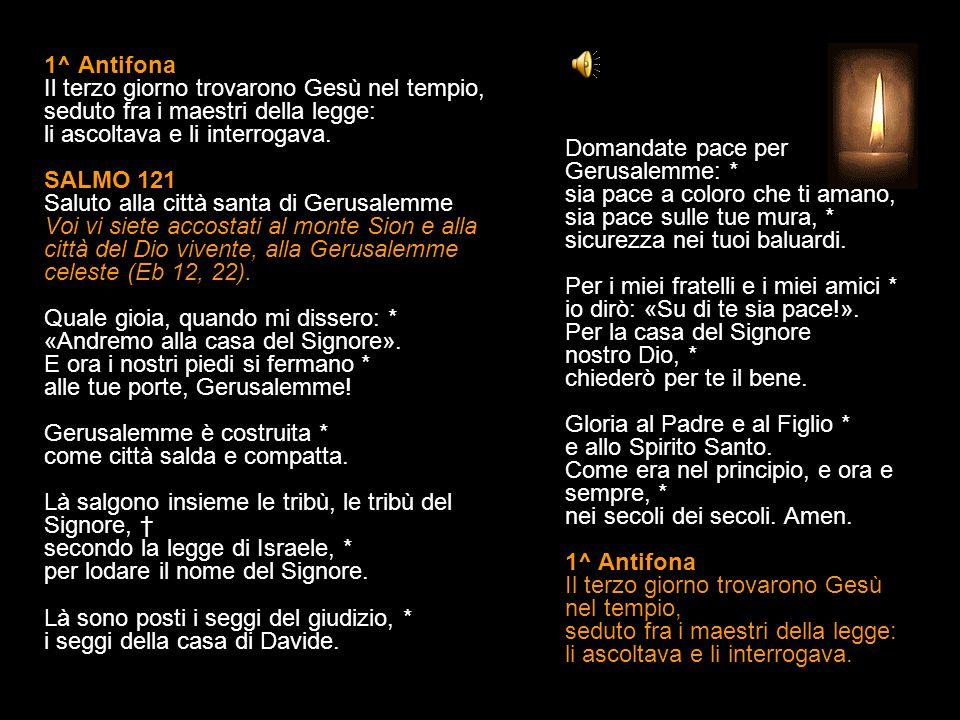 28 DICEMBRE 2014 - DOMENICA FRA L OTTAVA DI NATALE SANTA FAMIGLIA DI GESÙ MARIA E GIUSEPPE SECONDI VESPRI V.