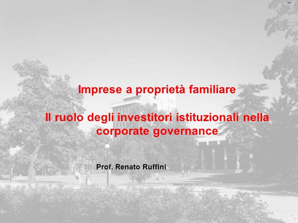 m&m Imprese a proprietà familiare Il ruolo degli investitori istituzionali nella corporate governance Prof.