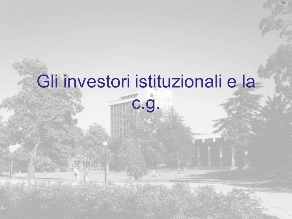 m&m Gli investori istituzionali e la c.g.