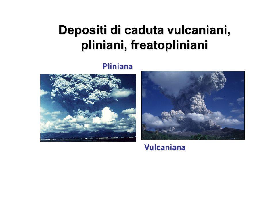 Vulcaniana Pliniana Depositi di caduta vulcaniani, pliniani, freatopliniani
