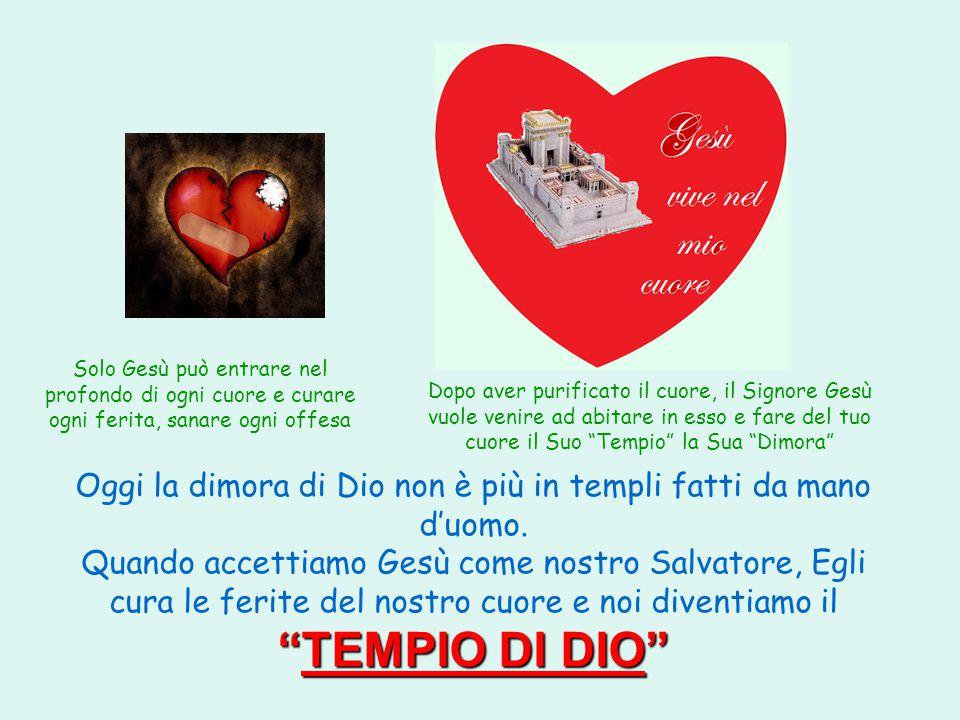 TEMPIO DI DIO Oggi la dimora di Dio non è più in templi fatti da mano d'uomo.