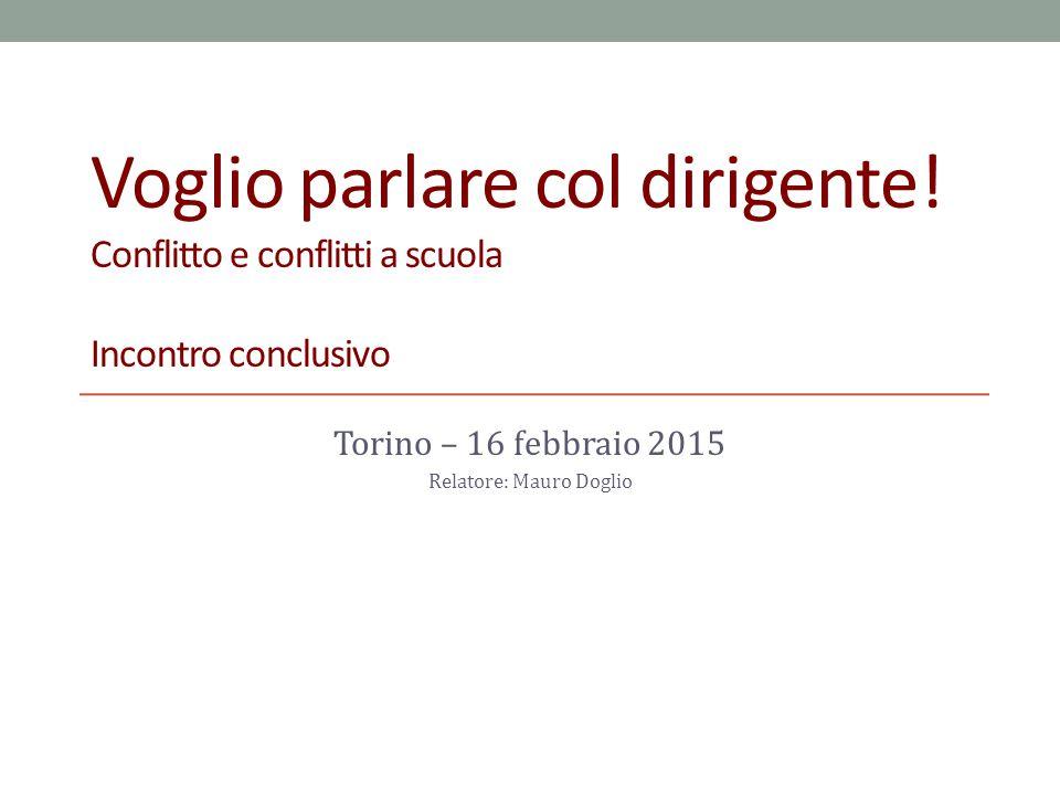 PRIMA PARTE restituzione delle analisi sulle situazioni conflittuali SECONDA PARTE Individuazione di strumenti comunicativi OBIETTIVI