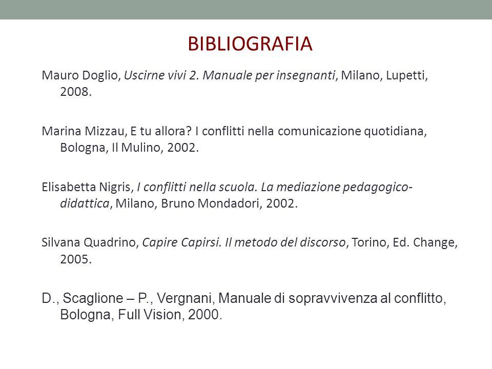 Mauro Doglio, Uscirne vivi 2. Manuale per insegnanti, Milano, Lupetti, 2008.