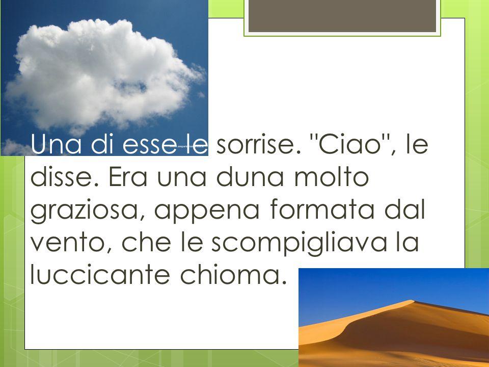Ciao.Io mi chiamo Ola , si presentò la nuvola. Io, Una , replicò la duna.