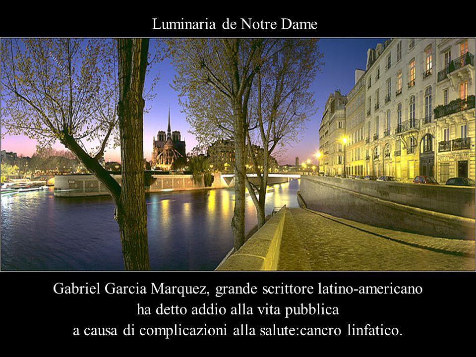 Gabriel Garcia Marquez, grande scrittore latino-americano ha detto addio alla vita pubblica a causa di complicazioni alla salute:cancro linfatico.