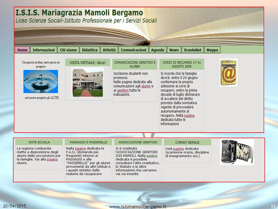 20/04/2015 www.isismamolibergamo.it 11