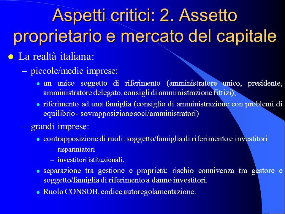 Aspetti critici: 2.