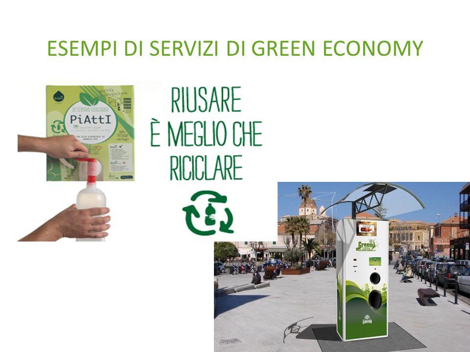 ESEMPI DI SERVIZI DI GREEN ECONOMY