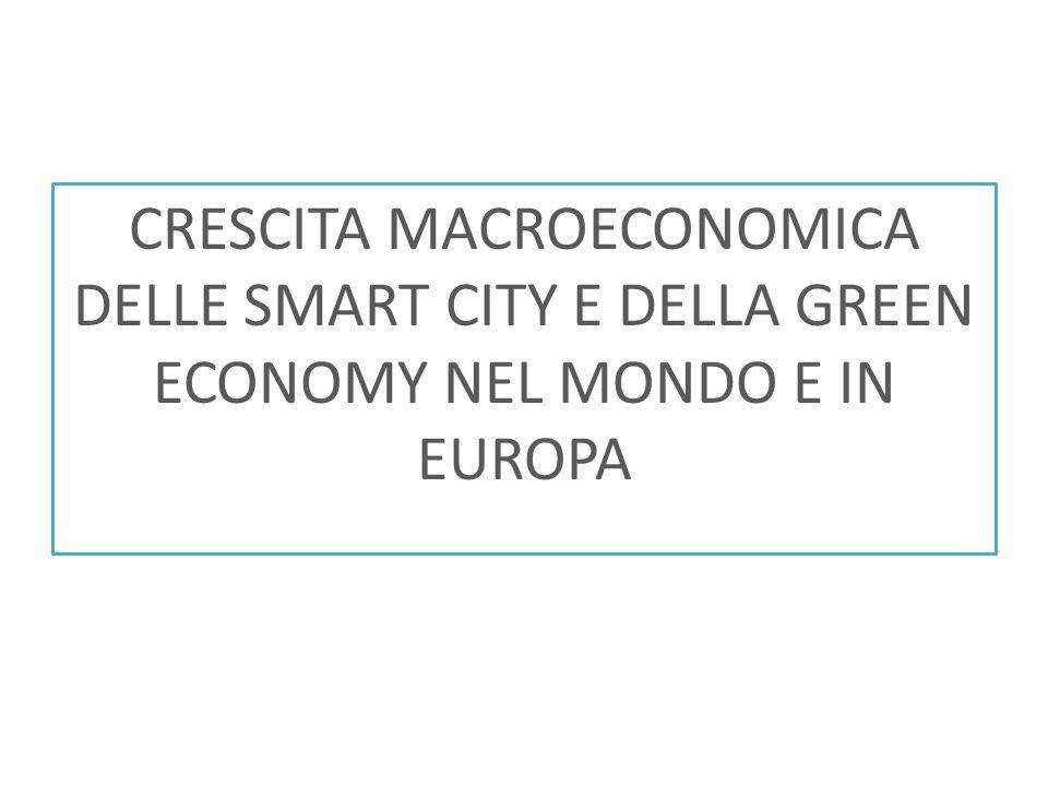 CRESCITA MACROECONOMICA DELLE SMART CITY E DELLA GREEN ECONOMY NEL MONDO E IN EUROPA
