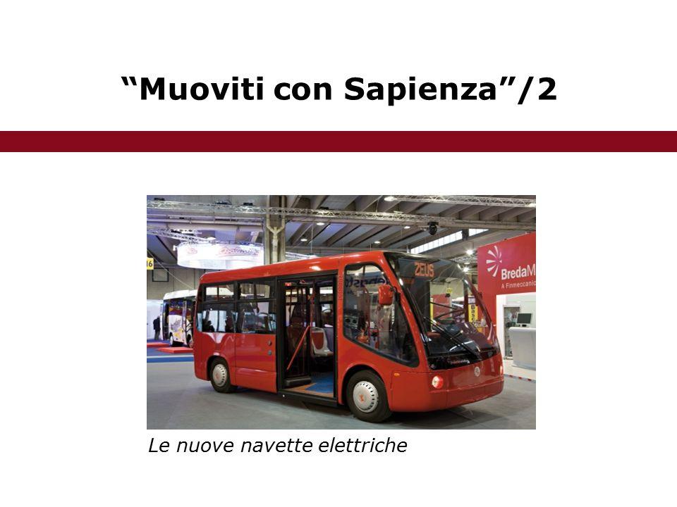 Muoviti con Sapienza /2 Le nuove navette elettriche