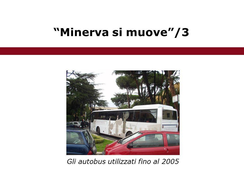 Minerva si muove /3 Gli autobus utilizzati fino al 2005