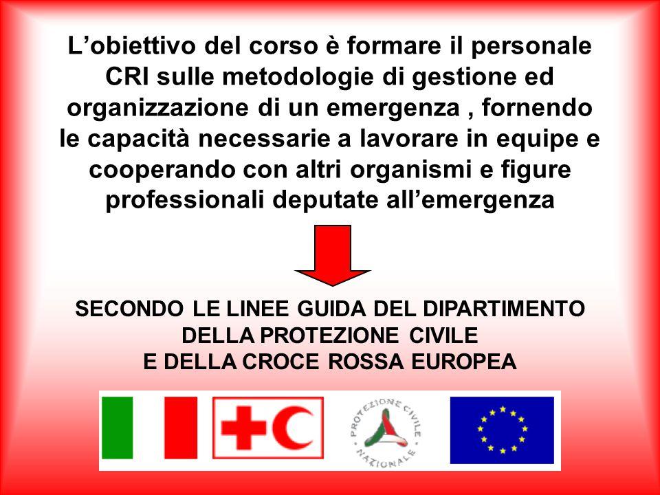 CROCE ROSSA ITALIANA Comitato Provinciale di Verbania PROGETTO FORMATIVO Corso specializzazione per soccorritori / operatori CRI in protezione civile