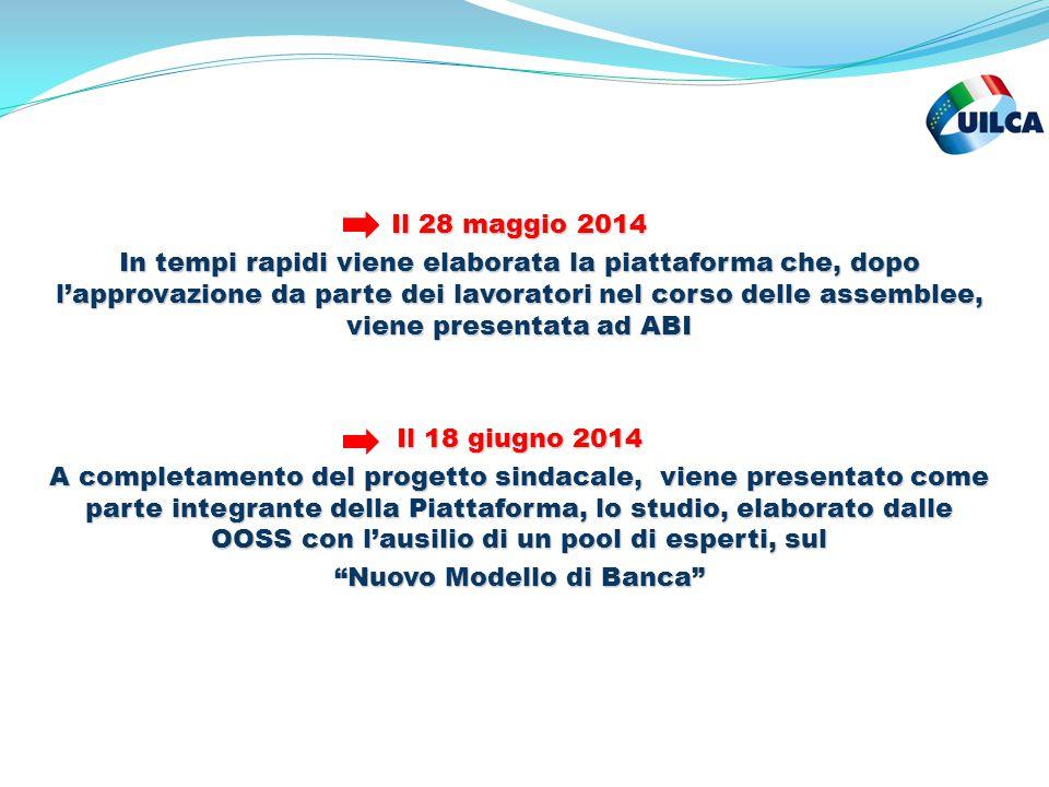Il 28 maggio 2014 In tempi rapidi viene elaborata la piattaforma che, dopo l'approvazione da parte dei lavoratori nel corso delle assemblee, viene pre
