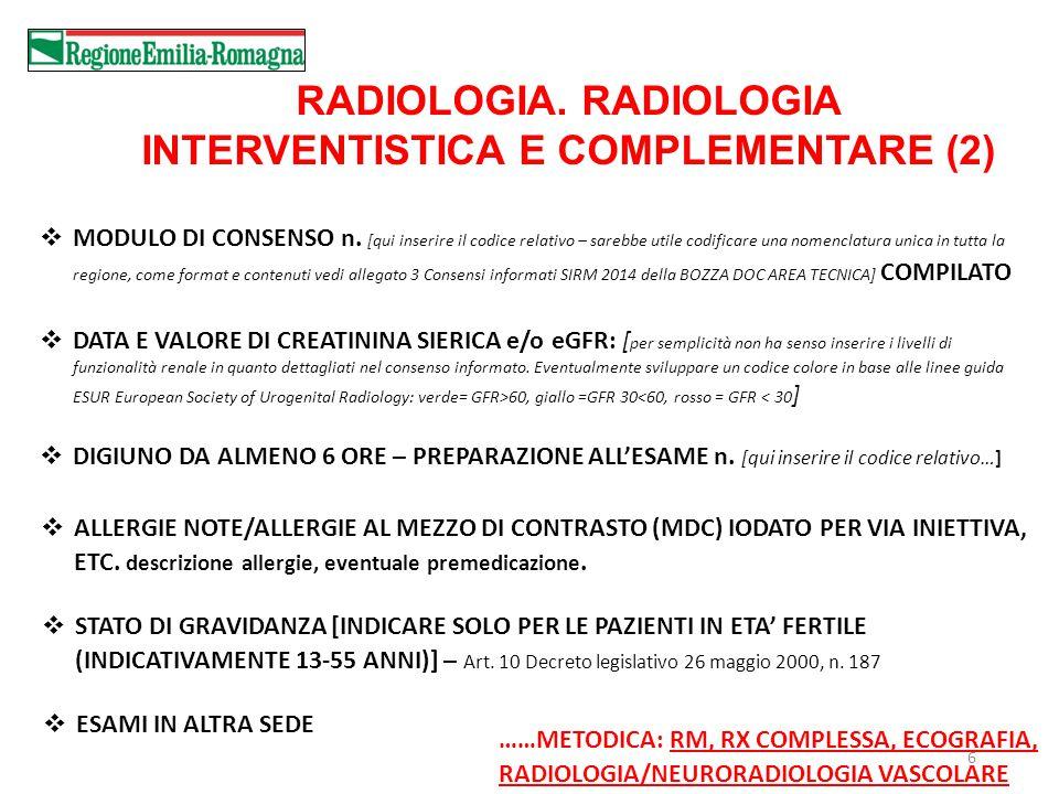 6 RADIOLOGIA.RADIOLOGIA INTERVENTISTICA E COMPLEMENTARE (2)  MODULO DI CONSENSO n.