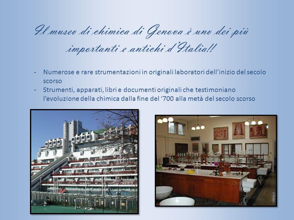Il museo di chimica di Genova è uno dei più importanti e antichi d'Italia!! -Numerose e rare strumentazioni in originali laboratori dell'inizio del se