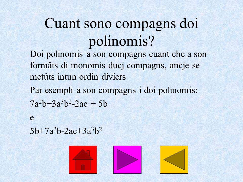 Cuant sono compagns doi polinomis.