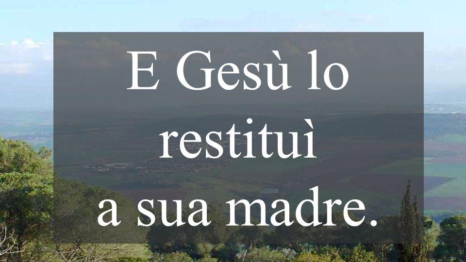 La PAROLA di Gesú risuscita chi giace nella morte Quando Dio tocca la morte, noi tocchiamo la VITA