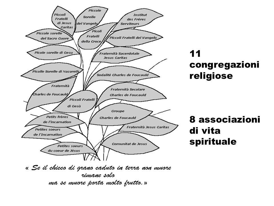 11 congregazioni religiose 8 associazioni di vita spirituale