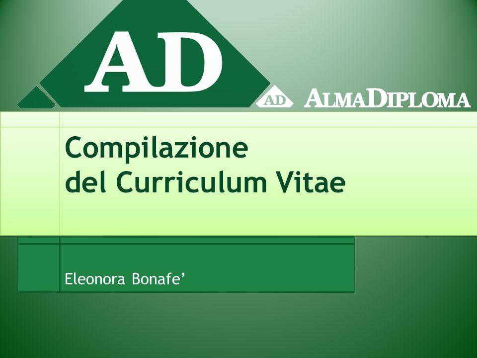 Compilazione del Curriculum Vitae Eleonora Bonafe'