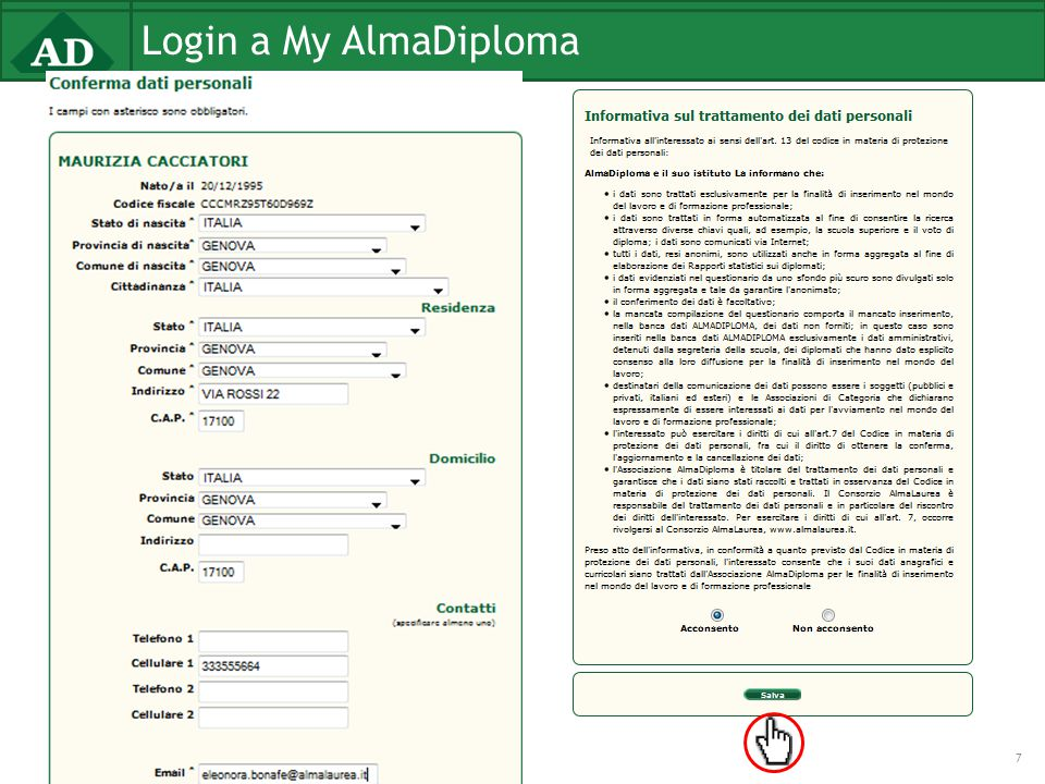 Login a My AlmaDiploma 7