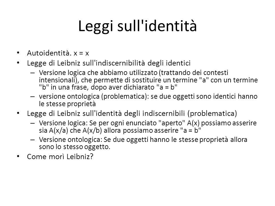 Leggi sull identità Autoidentità.
