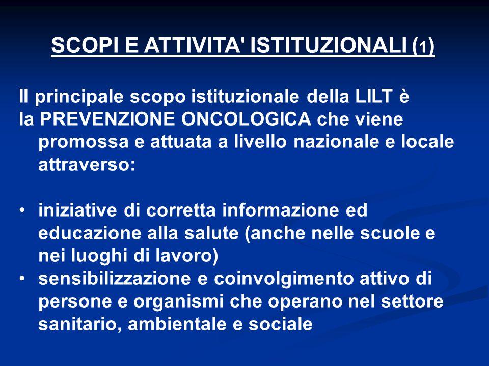 Lega Italiana per la Lotta contro i Tumori anticipazione diagnostica: tum.