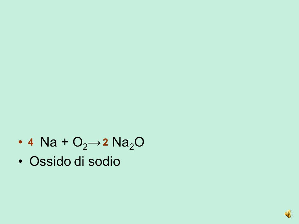L'ossigeno si combina sia con i non metalli che con i metalli Non metallo + ossigeno = ossido acido (anidride) Metallo + ossigeno = ossido (ossido bas